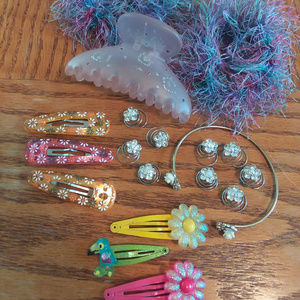 Colorful Girly Pretty Flower Set
